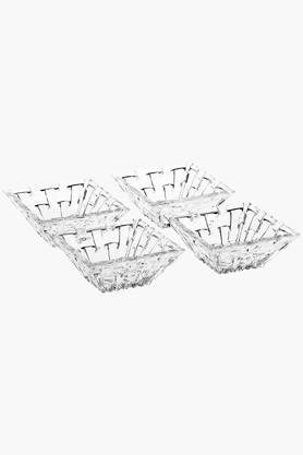 Square Beveled Dip Bowl Set of 4