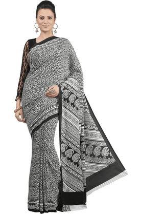 JASHN Womens Art Crepe Saree