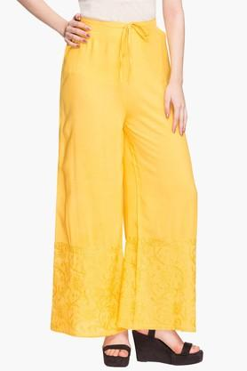 Womens Embroidered Palazzos