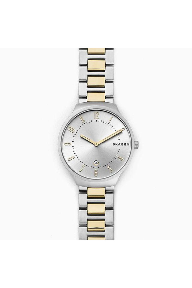 Unisex Silver Dial Metallic Analogue Watch - SKW6516