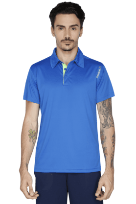 REEBOK Mens Short Sleeve Solid Polo T-Shirt