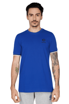 REEBOK Mens Round Neck Short Sleeve Solid T-Shirt