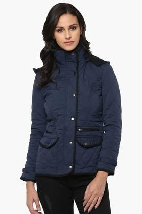 THE VANCA Womens Solid Quilted Hooded Jacket - 201743802