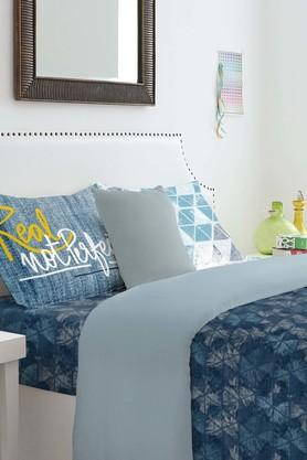 SPACESCotton Geometric King Bedsheet With Pillow Cover