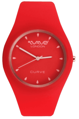 WAVE LONDON Curve Red & White Ladies Watch