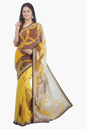 JASHN Womens Printed Saree - 201502531