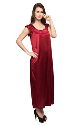 4-Piece Satin Nightwear