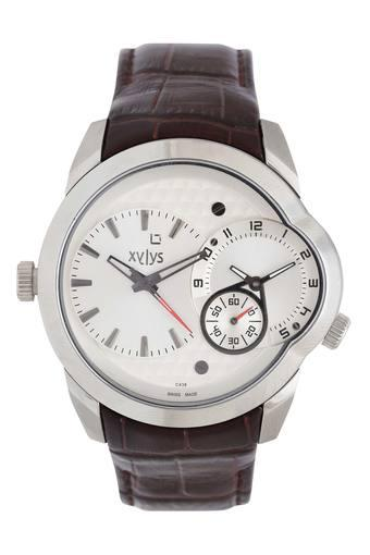 Mens White Dial Chronograph Watch - NG9294SL01