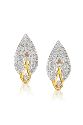 MAHI Mahi Gold Plated Drop Earrings With CZ For Women ER1190108G
