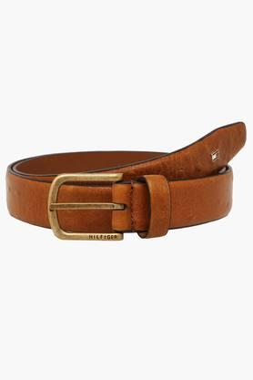 TOMMY HILFIGER Mens Buckle Closure Leather Casual Belt