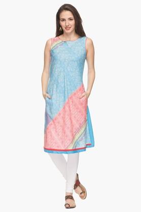 IMARA Womens Round Neck Printed Kurta (Buy Worth Rs.2500 & Get Rs.500. Off) - 201430429