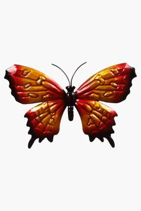 MALHAR Wrought Iron Engraved Decorative Butterfly Wall Plaque - 201734014