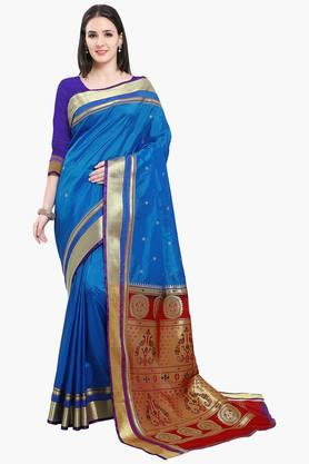 Women Bhagalpuri Art Silk Pethni Border Saree