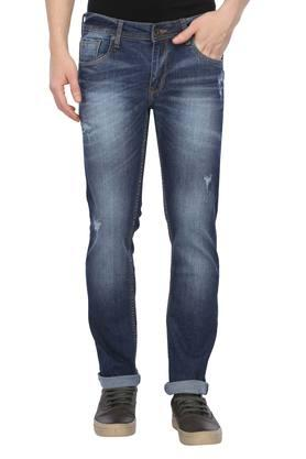 Mens 5 Pocket Mild Wash Jeans