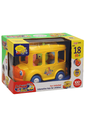 Stop Inflatable Toys - Unisex Plastic Musical Bus