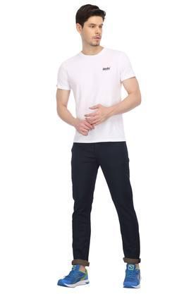 Mens Round Neck Solid Sport T-Shirt