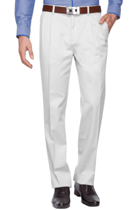 BLACKBERRYS Mens Slim Fit Solid Formal Trousers - 200889272