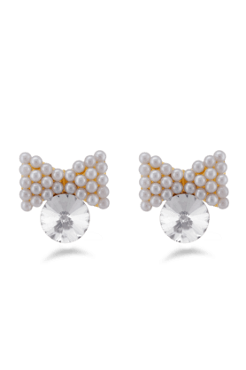 JAZZ Butterfly Design White Color Earrings For Womens