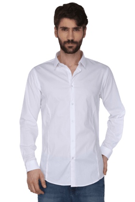 Arrow Formal Shirts (Men's) - Mens Full Sleeves Slim Fit Casual Solid Shirt