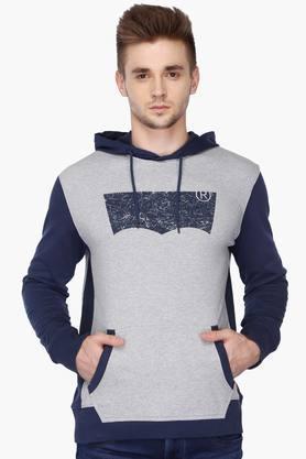 LEVISMens Regular Fit Hooded Colour Block Sweatshirt
