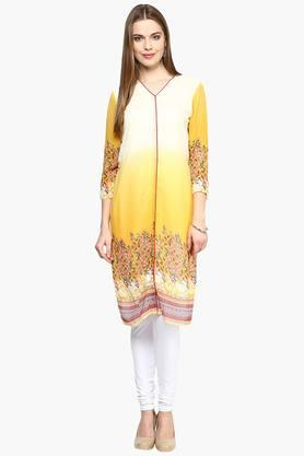 FUSION BEATS Women Printed Kurta - 201996693