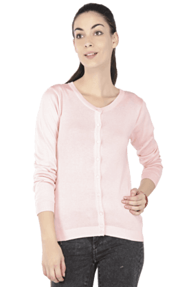 ALLEN SOLLY Women V-Neck Cardigan