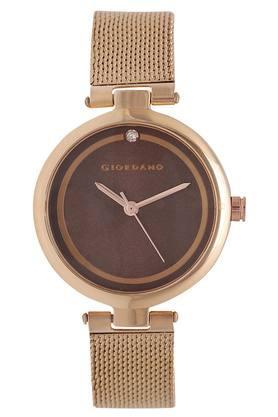 Womens Brown Dial Analogue Metallic Watch - GD-4007-22