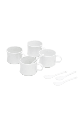MOM ITALY 4 Mugs And 4 Spoons - Gift Set