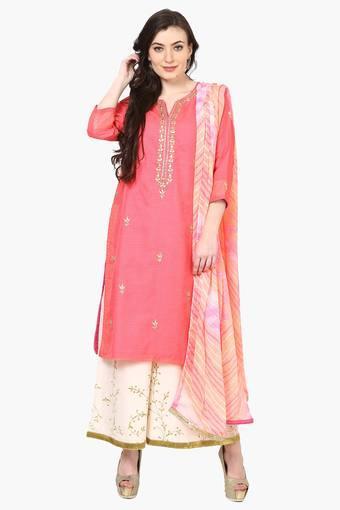 1b215ce89aa Buy BIBA Women Poly Cotton Straight Suit Set