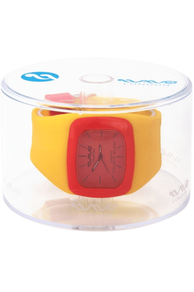 Drift Colour Burst Range Yellow & Red Unisex Watch