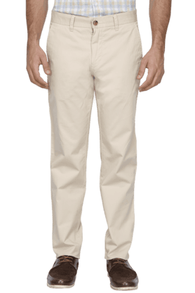 LOUIS PHILIPPE SPORTS Mens Slim Fit Solid Chinos - 200573197