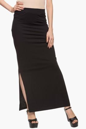 VERO MODA Womens Solid Slitted Long Skirt