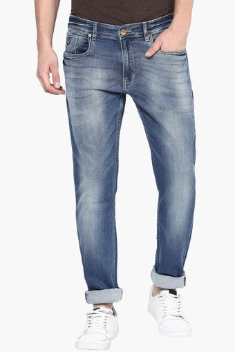 243ba6117da457 Buy NUMERO UNO Mens Tapered Fit Heavy Wash Jeans (Roger Fit) | Shoppers Stop
