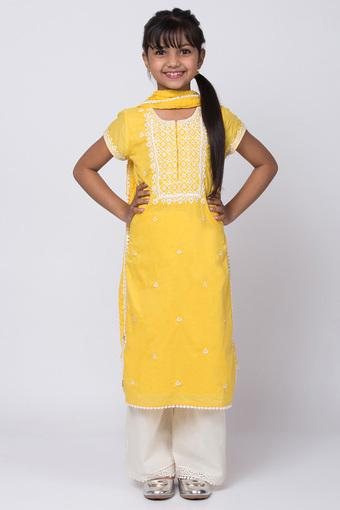 BIBA GIRLS -  Yellow Indianwear - Main