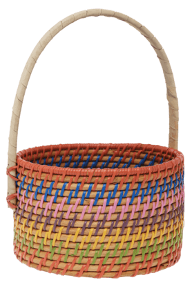 BACK TO EARTH Round Seagrass Basket With Handle