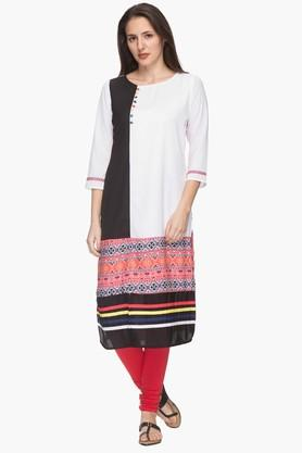 IMARA Womens Round Neck Printed Kurta (Buy Worth Rs.2500 & Get Rs.500. Off) - 201430424