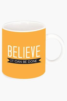 CRUDE AREA Believe It Can Be Done Printed Ceramic Coffee Mug