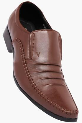 VENTURINI Mens Leather Slipon Loafers - 202162908