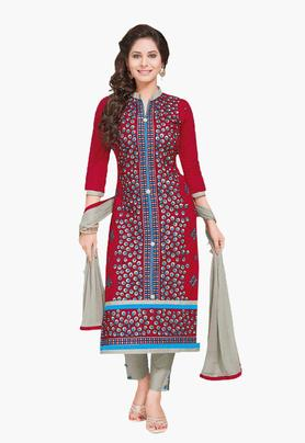 ISHIN Womens Embroidered Unstitched Dress Material - 201832736