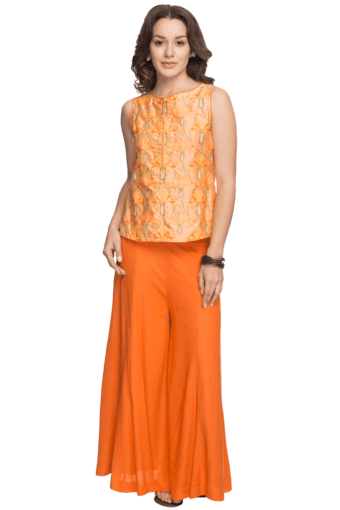 074936daea Buy BIBA Women Round Neck Short Palazzo Suit | Shoppers Stop