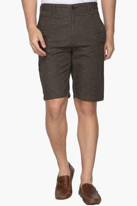 Mens Slim Fit 4 Pocket Check Shorts (Classic Fit)