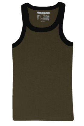 TUNA Mens Stretch Solid Round Neck Vest