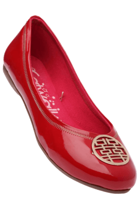 CATWALK Womens Red Toned Slipon Ballerina Shoe