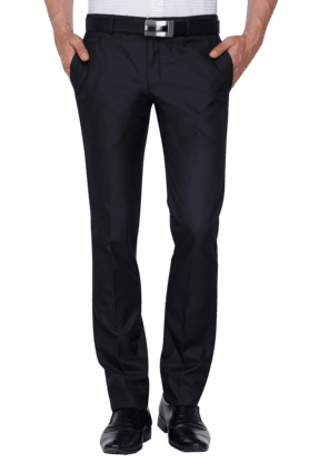 BLACKBERRYSMens Slim Fit Solid Formal Trouser