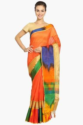Women Chanderi Saree With Zari Border - 202322069