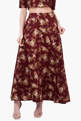 INDYA Womens Printed Maxi Skirt - 201845625