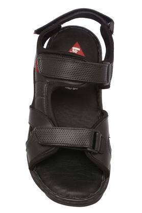 Mens Leather Velcro Casual Sandals