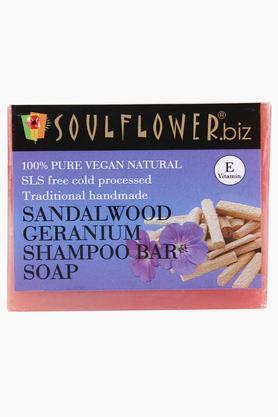 Sandalwood Geranium Shampoo Bar Soap - 150gm