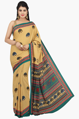 JASHN Womens Printed Saree With Blouse Piece