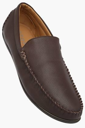 STOP Mens Leather Slip On Loafers